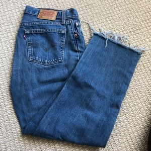 Levi's Jeans - Vintage medium washed Levi 501 students 30W 32L